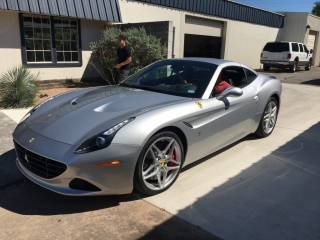 Silver Ferrari with Paint protection