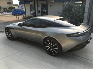 Paint protection and window tinting on Aston Martin