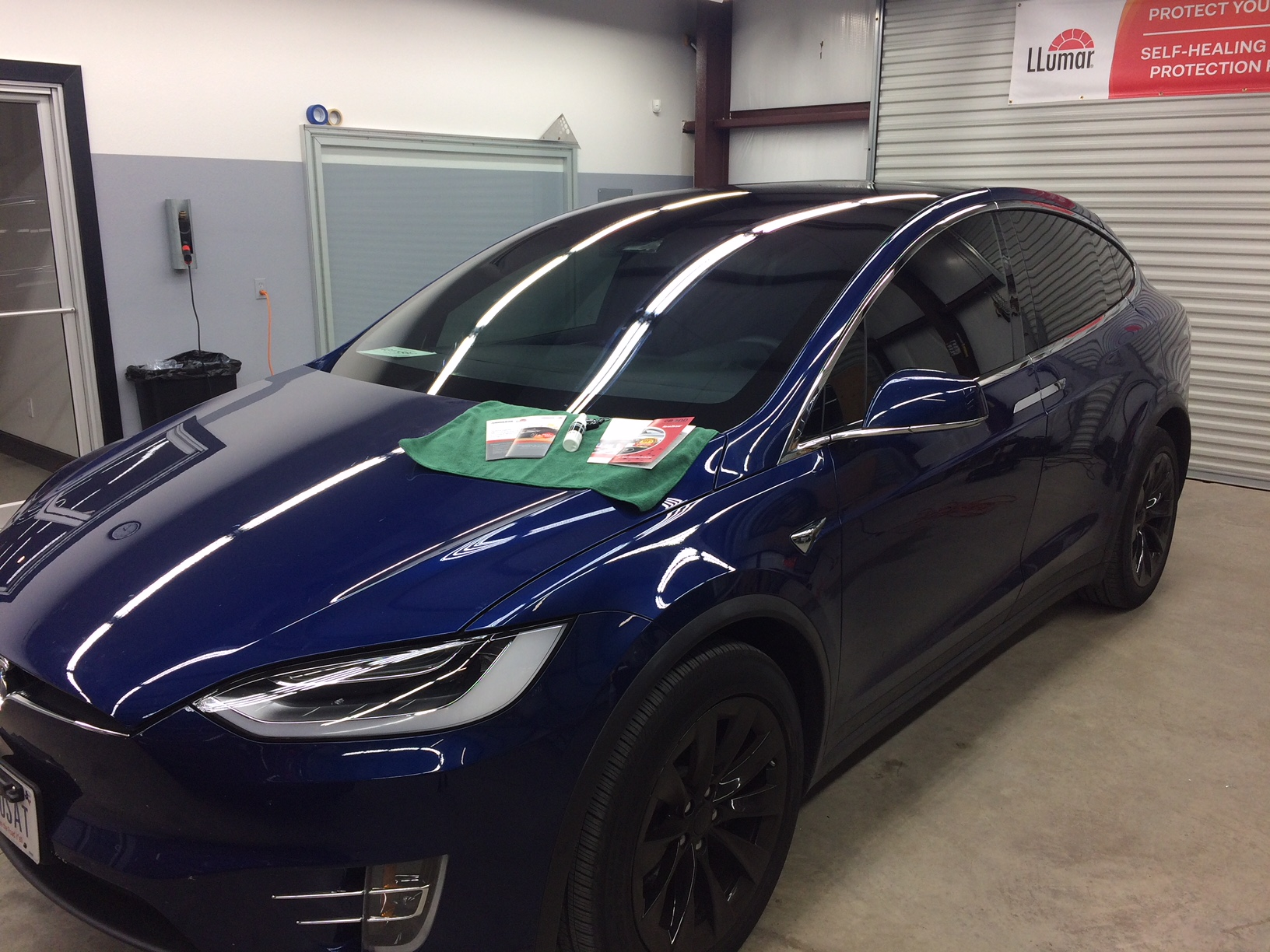 Tesla Paint protection and window tinting installation