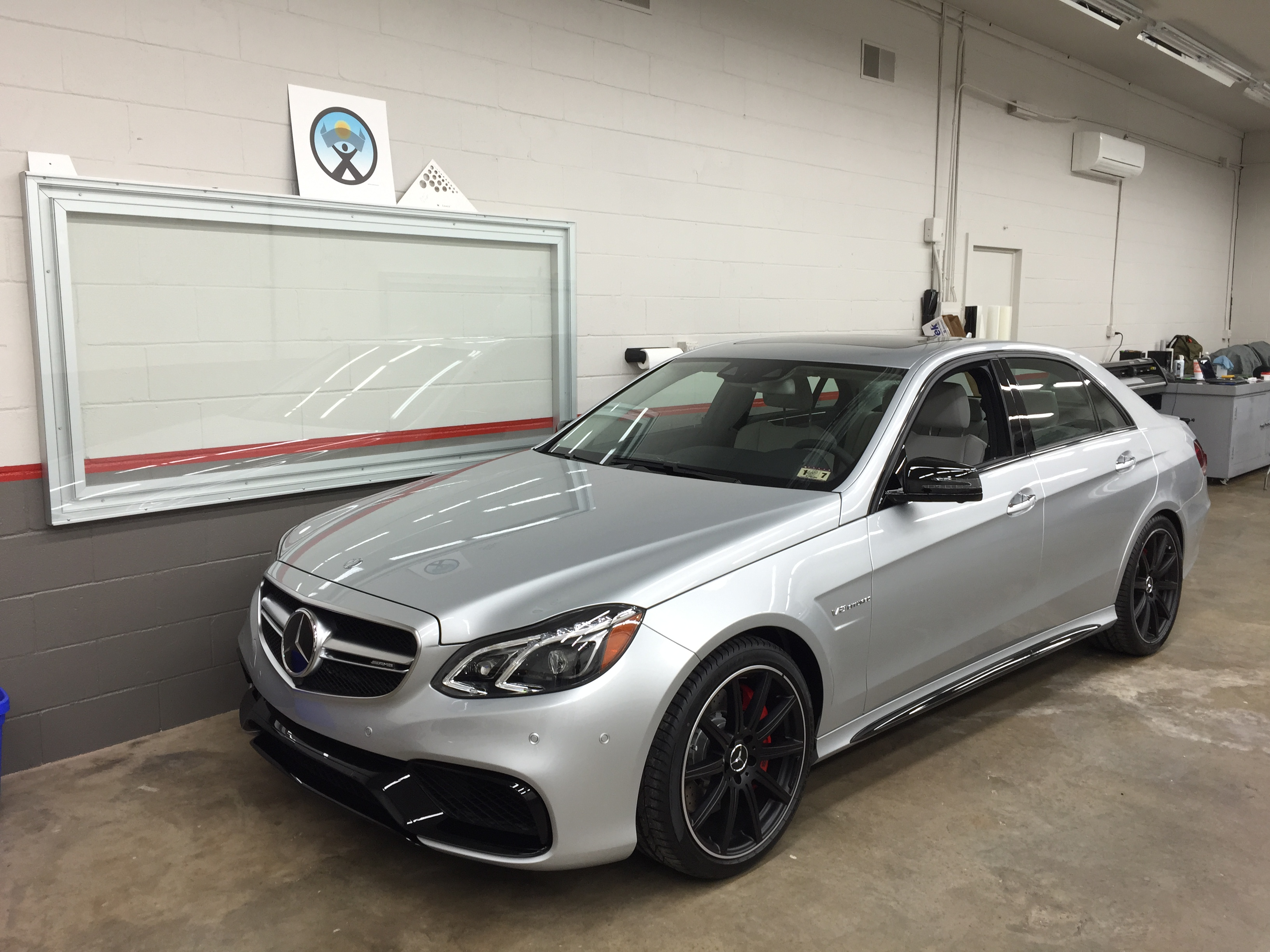 Silver Mercedes Benz SUV Paint Protection applied