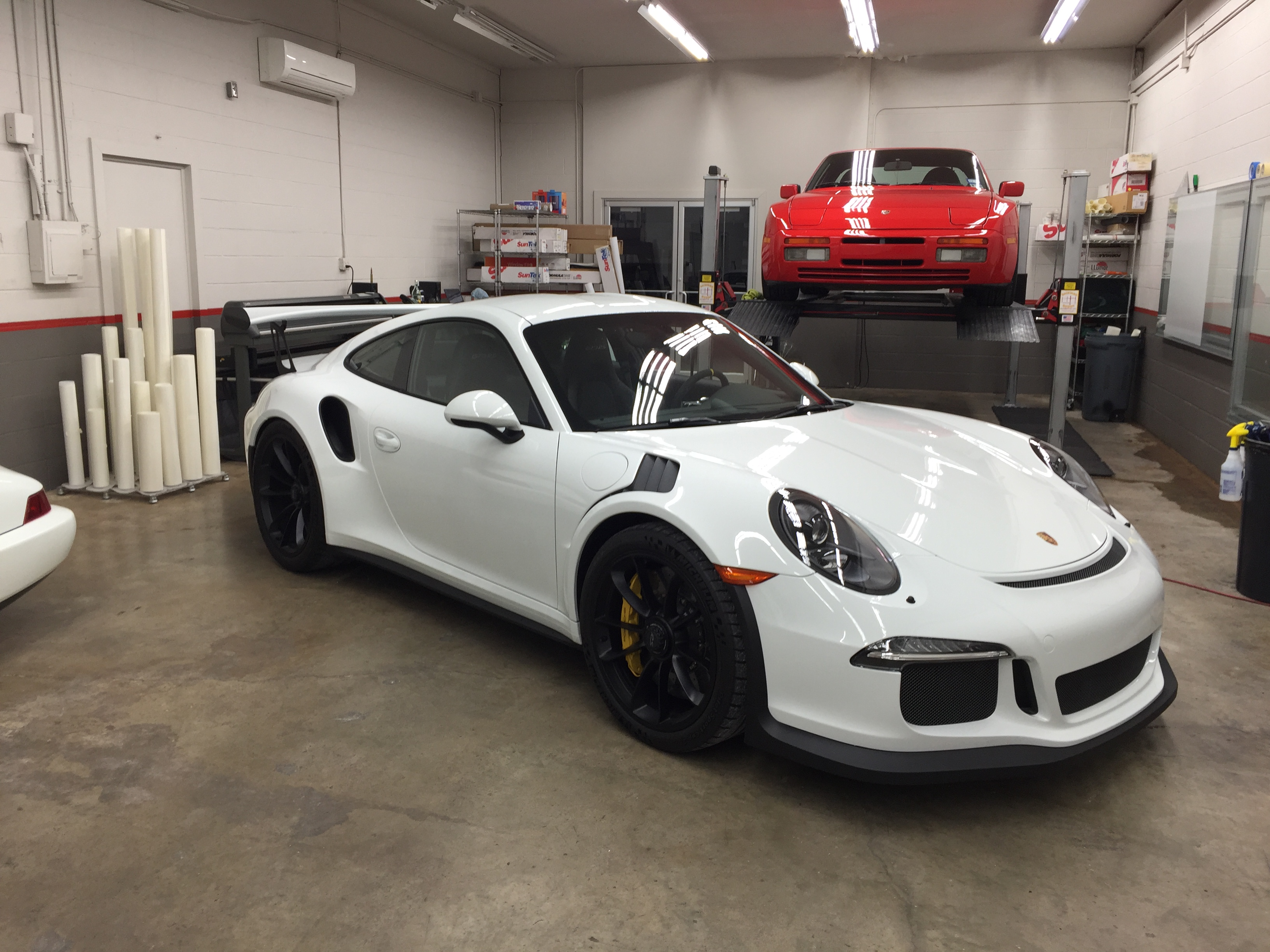 White Porsche with sunbusters paint protection