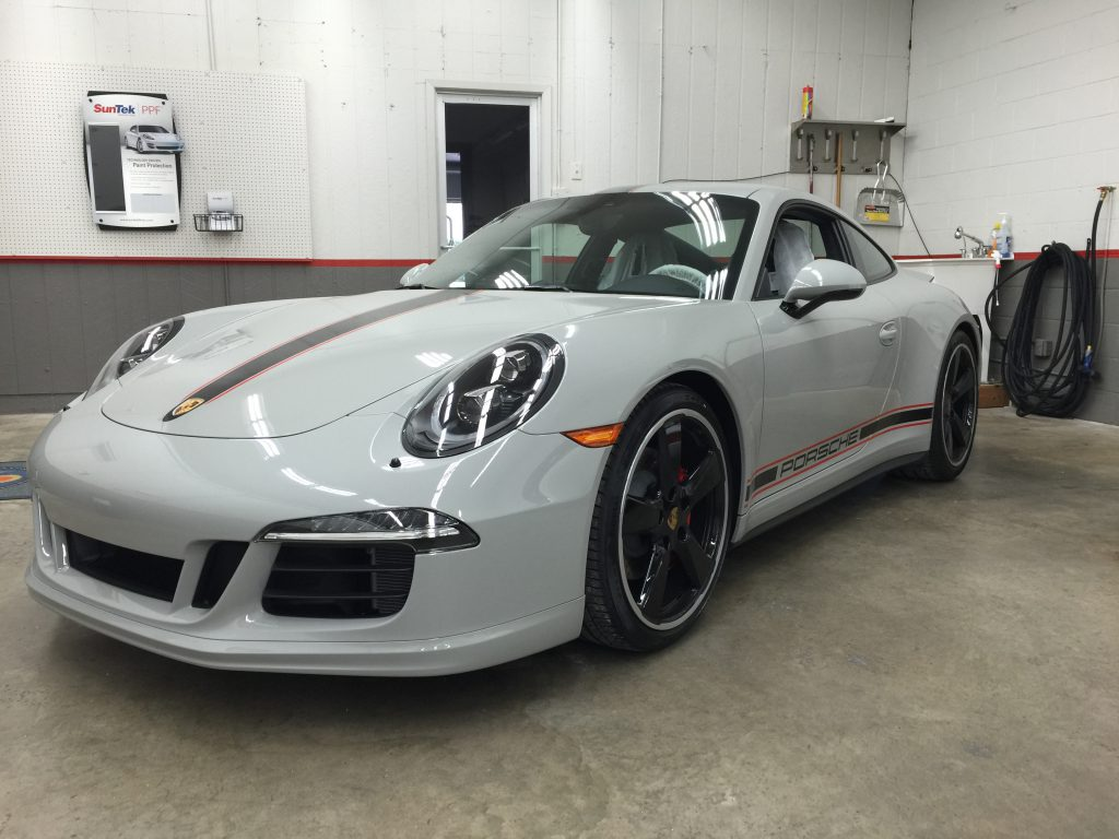 Porsche with Paint Protection applied